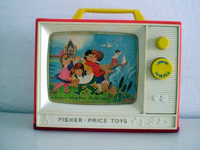 Fischer Price Tv. both my kids used my old one :)
