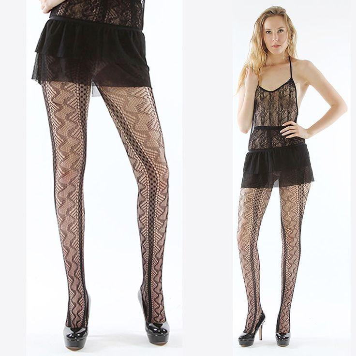 Women Stockings Sexy Mesh Jacquard Tattoo Small Net Thigh High Silk Stocking Fishnet Pantyhose ladies Night club stocking 1059 #Affiliate