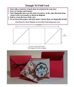 Triangle Tri Fold Card