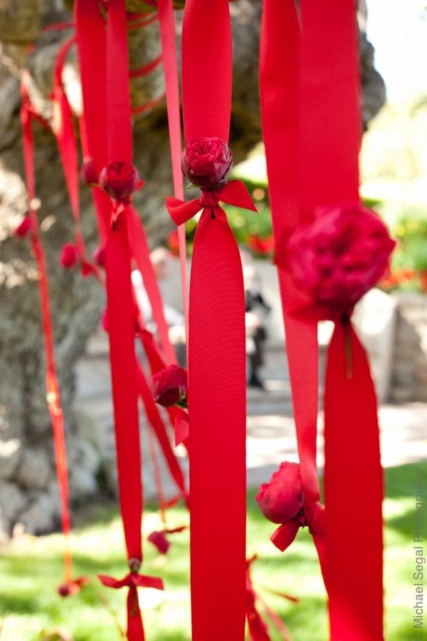 Rubans rouge mariage Etincelles events wedding planner paris mariag
