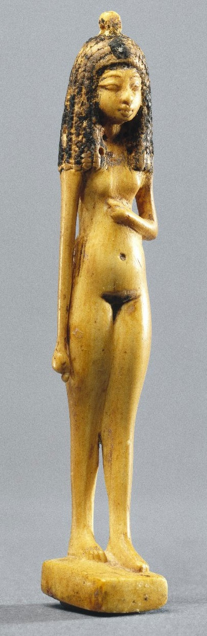 A Small statue of a Nude Girl - Egypt ca. 1390-1353 BCE.