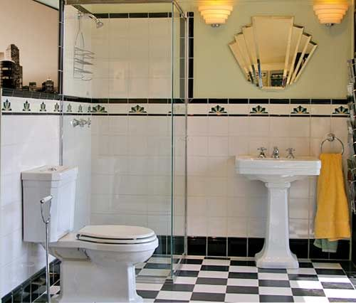 art deco bath there 39 s no place like home pinterest. Black Bedroom Furniture Sets. Home Design Ideas