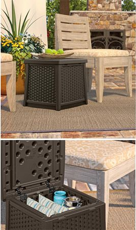 Keep Your Space Clear Of Clutter With Outdoor Storage Solutions Like This  Suncast ELEMENTS™ End