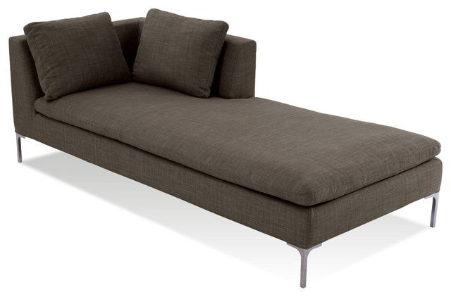 Contemporary Chaise Modern Designs With 2 Pillows