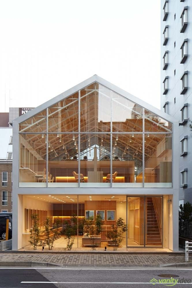 exciting in home salon ideas. Hair Salon with Triangle Shaped Roof in Japan by Ryo Matsui Architects Inc 12 best