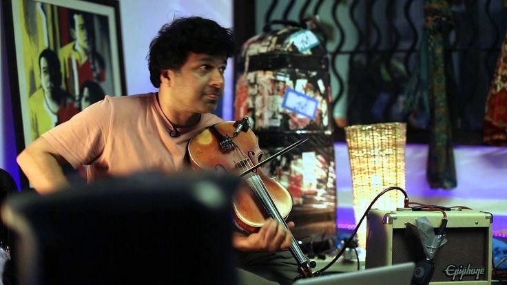 #Violinist Kumaresh Rajagopalan jamming with #IndianOcean band for Tandanu Album.