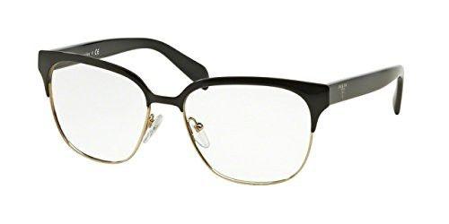 a41df963558b Prada PR54SV Eyeglass Frames 1AB1O1-54 - Black pale Gold in 2018 ...