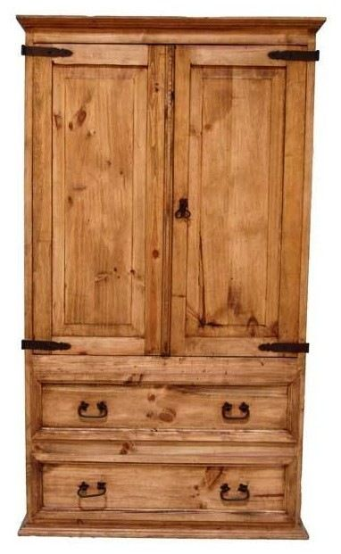 Rustic TV Armoire southwestern-armoires-and-wardrobes