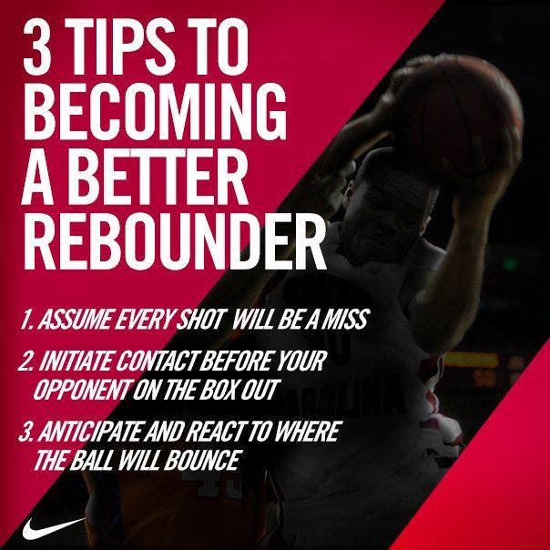 3 Tips to Becoming a Better Rebounder. I love this because I love to rebound.