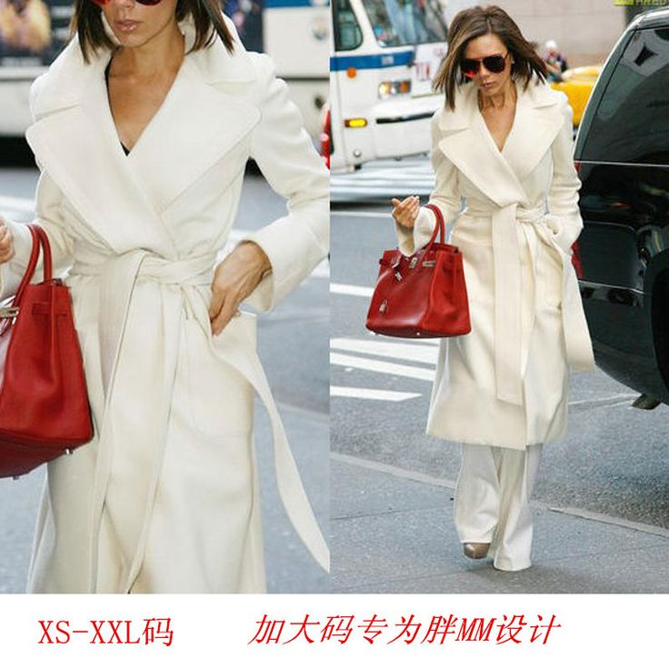 Find More Wool & Blends Information about Designer Womens Winter Cashmere Coats Blend Trench runway Coat Belted Long Winter Cardigan white Coat Outwear cappotto donna ,High Quality coates logo,China coat manufacturer Suppliers, Cheap coat shearling from Magical Store on Aliexpress.com