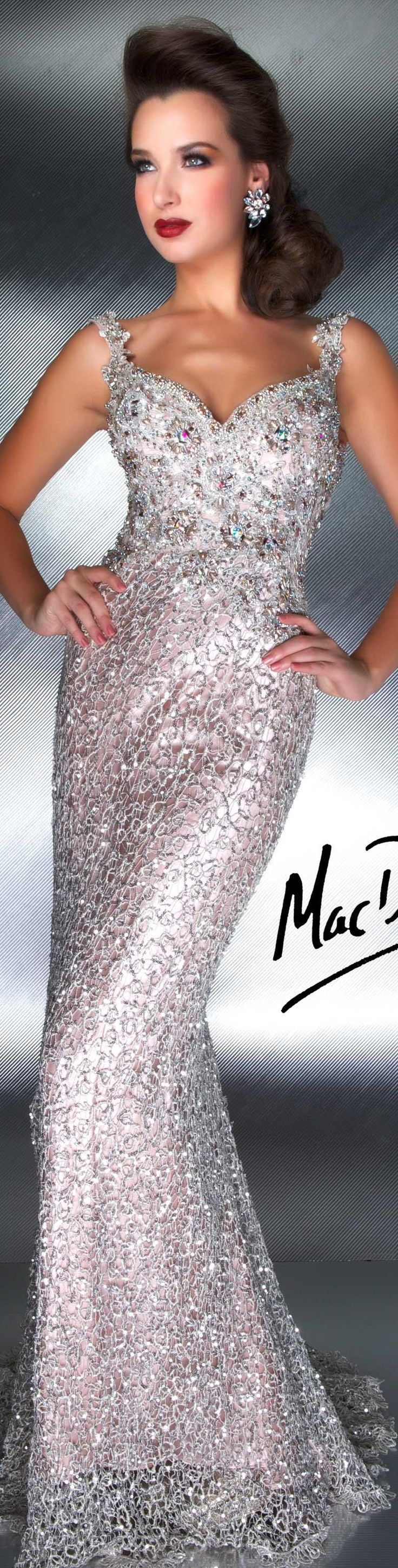 Mac Duggal couture - nude/silver dress. COUTURE DRESSES  STYLE 78709D  (better without implants, just sayin)