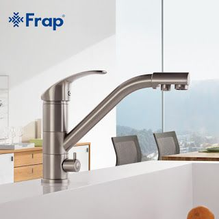 High-end Brass Body Nickel Brushed Kitchen faucet sink Mixer tap 360 degree rotation with Water purification features F4321-5 (32737269018)  SEE MORE  #SuperDeals