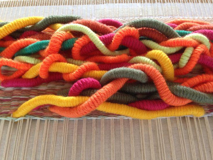 Estructura textil.Técnica Wrapping