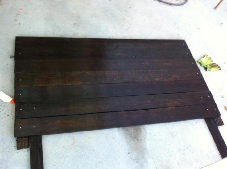 DIY Headboard (king Size)...get 6 Foot Long Boards At Home