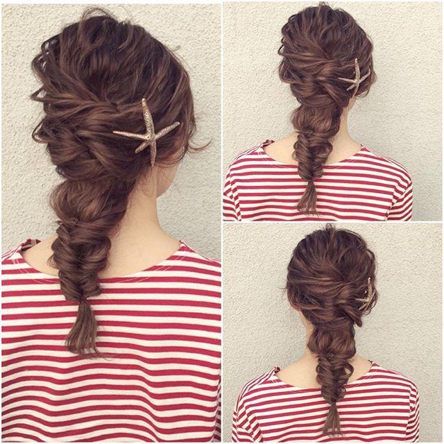 hairarrange* * hairjewelry* @pluiehair  #ヘアアレンジ #ヘアセット #結婚式 #パーティー #二次会 #ブライダル #ウェディング #東京