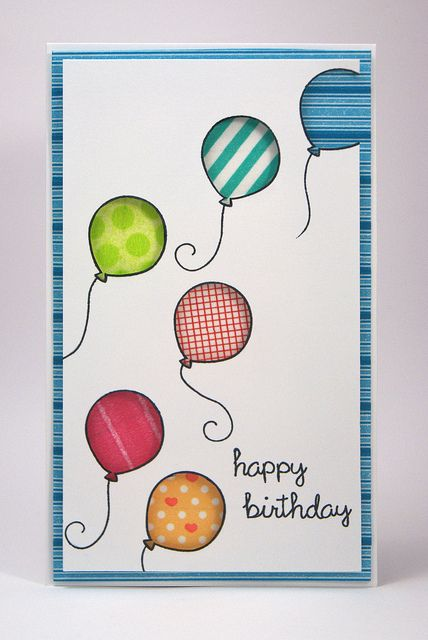 cute balloon birthday Card
