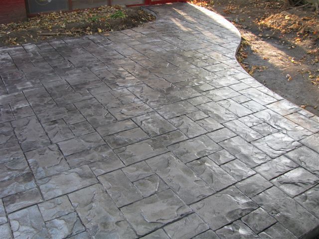Stamp Concrete Without Color Stamped Concrete Patio