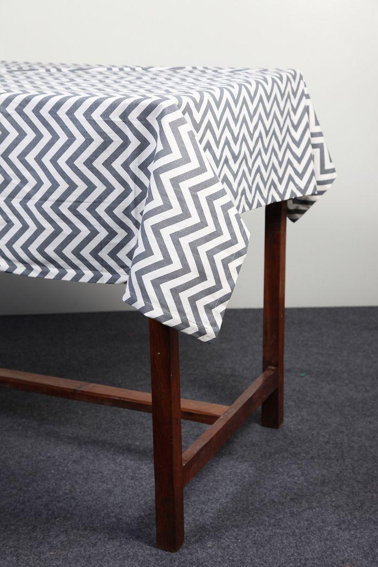 Chevron table cloth by Suraaj Linens