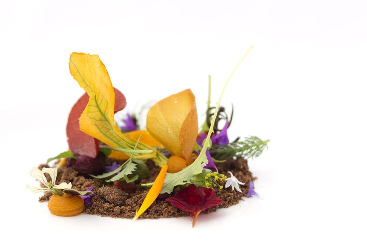 Alessandro Bellingeri   foto Laura Cemin   L'orto di casa mia: terriccio all'olio extra vergine, rafano, rape rosse, carote e riduzione di pomodorini