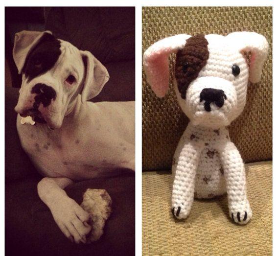 Amigurumi Boxer Dog : Custom crochet Amigurumi Boxer for Dylan by pigswife on ...