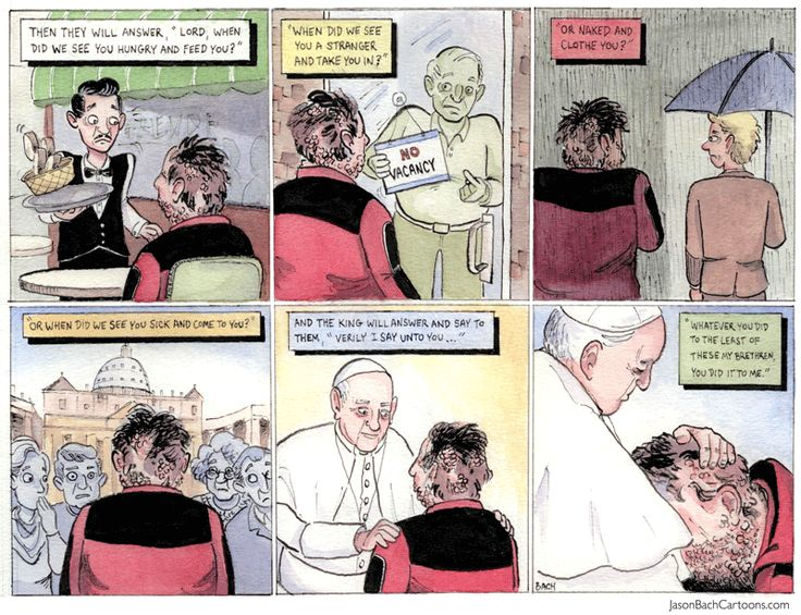 Jason Bach Cartoons | To the Least of These #PopeFrancis