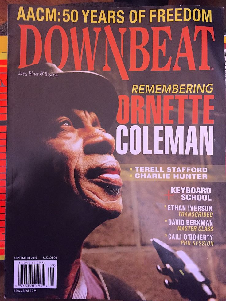 Downbeat magazine coleman september 2015 with