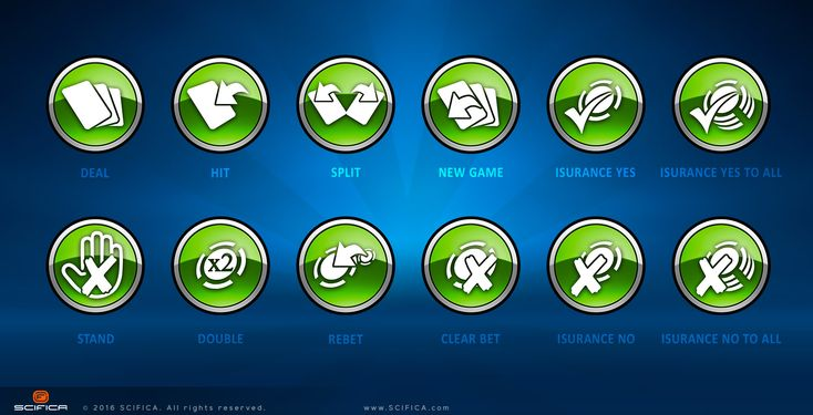 UI Design - Iconography Casino Poker Buttons
