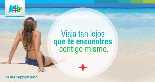 Sumérgete en la felicidad de Aruba.   #Onehappyisland #DescubreAruba #Quotes