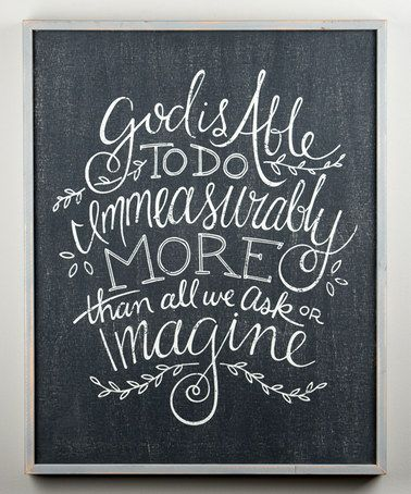 Another great find on #zulily! 'Immeasurably More' Wall Sign #zulilyfinds