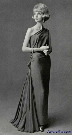 Couture Allure Vintage Fashion: Jean Desses Evening Gown - 1961