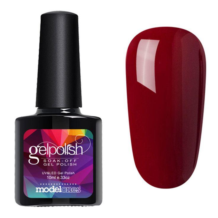 Modelones 2017 High Quality UV Gel Polish Soak Off Nail Varnish Shining Glitter UV Nail Gel Glue Long Lasting UV Gel Nail Polish
