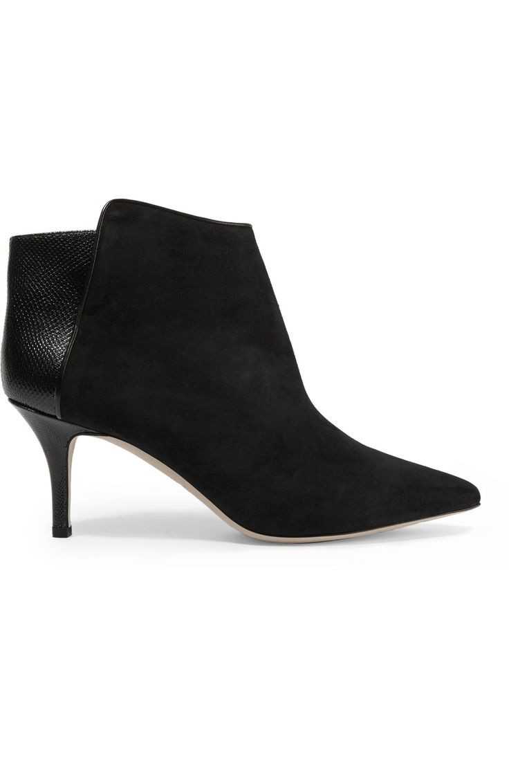 MALONE SOULIERS Doreen snake and suede ankle boots. #malonesouliers #shoes #boots