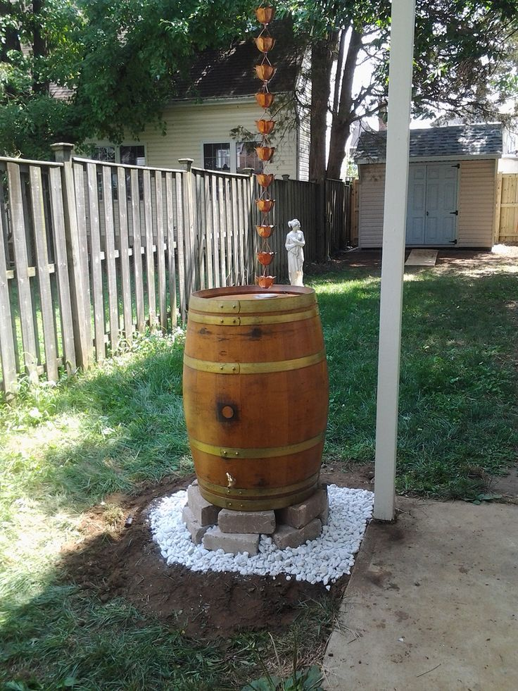 Rain catchers are medium to large receptacles that collect and store rainwater for later use on plants and yards. Properly installed rain catchers can be a great addition to most any yard.