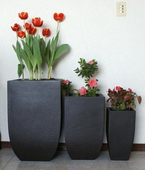 Macetas de fibra de vidrio para decorar interiores y for Macetas decorativas para exteriores