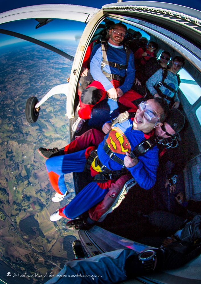 It's a bird... It's a plane... Nope, it's Superman about to skydive over beautiful Byron Bay! #SkydiveAustralia #ByronBay #skydiving