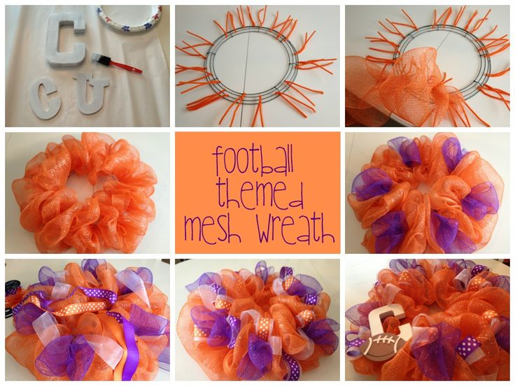 Football Themed Door Wreath and My Favorite Game Day Recipes | Brass & Whatnots