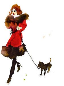 What to Wear when Walking the Dogs 3 by Bridget Davies #IWD #femaleartist #fashionillustration