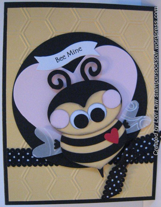 216 best images about Preschool February – Bee Mine Valentine Card