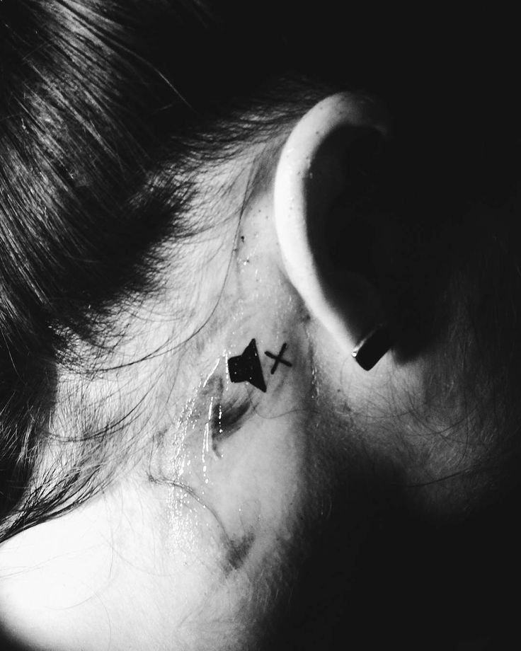 ✖ #deaf #tattoo