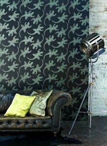 Komodo lizard wallpaper by Osborne and Little - love this wallpaper for a feature wall