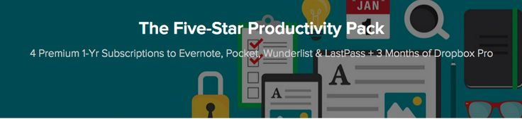 Grab the Five-Star Productivity Pack for $59.99, Includes Dropbox Pro, Wunderlist, Pocket and More!