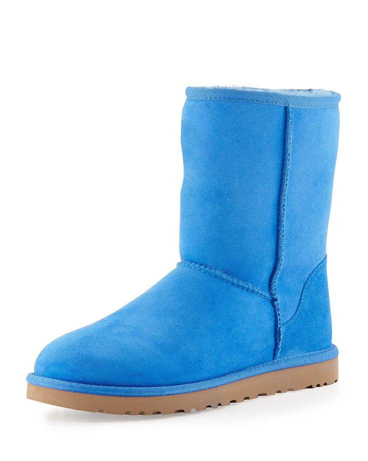 Classic Short Boot, Smooth Blue, Size: 11B - UGG