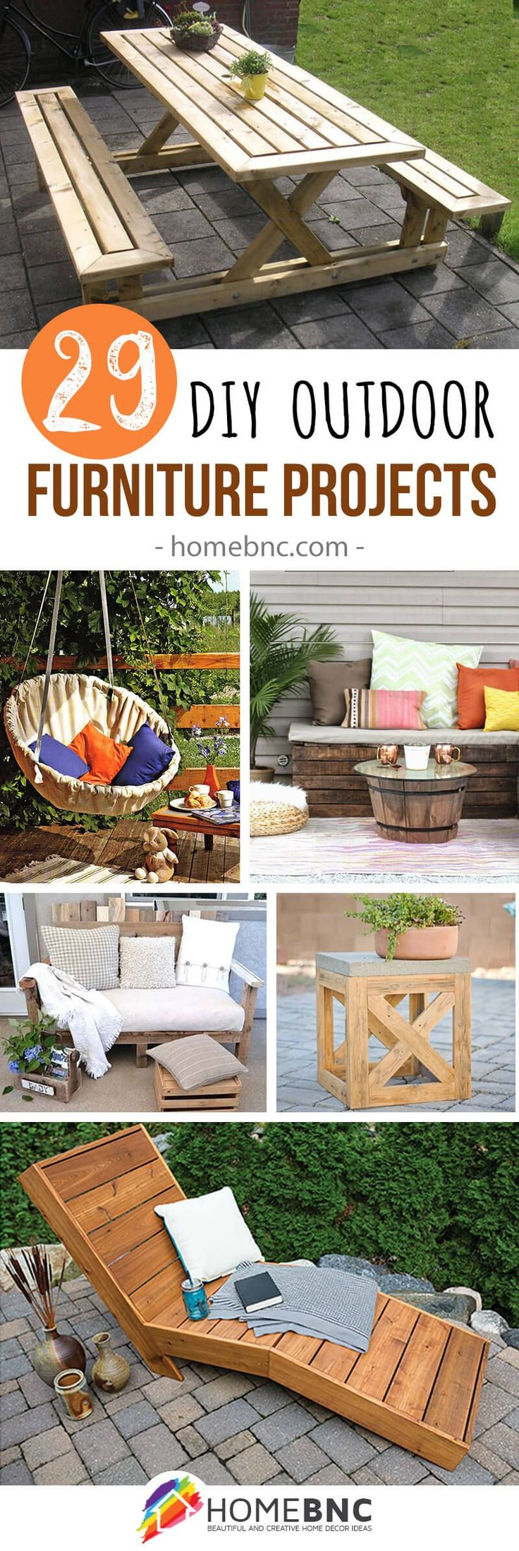 29 DIY Outdoor Furniture Projects To Beautify