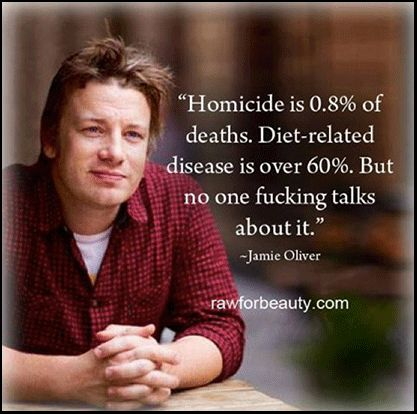 The Standard American Diet (SAD) is killing our kids - listen to Jamie Oliver talk about kids, food and our health