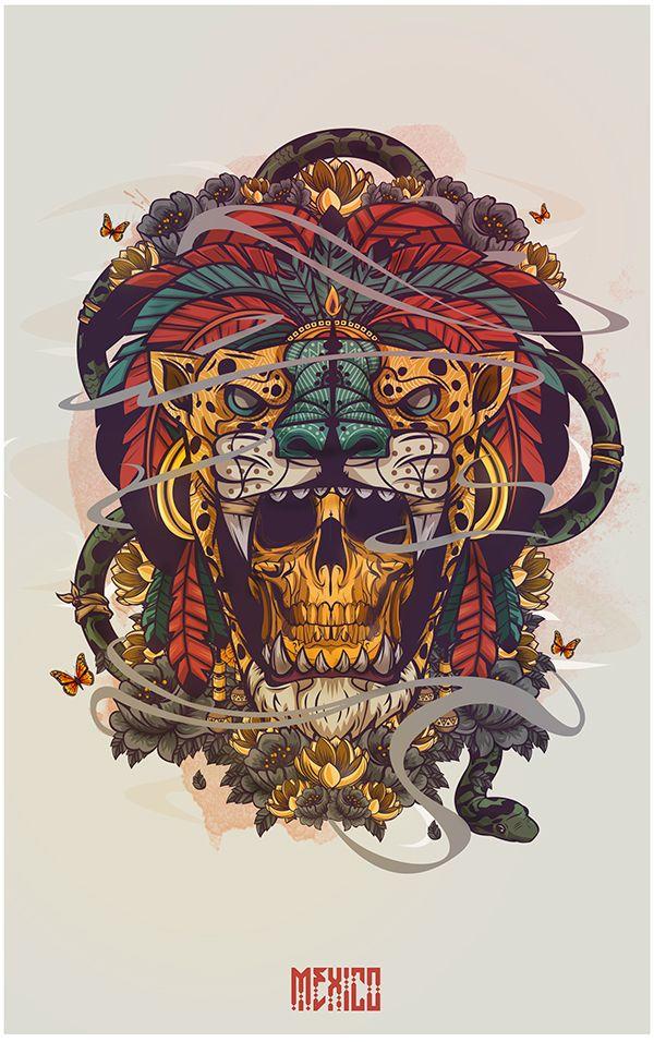 Digital Art Graphic Design Illustration  https://www.behance.net/gallery/34598983/Hecho-en-Mexico