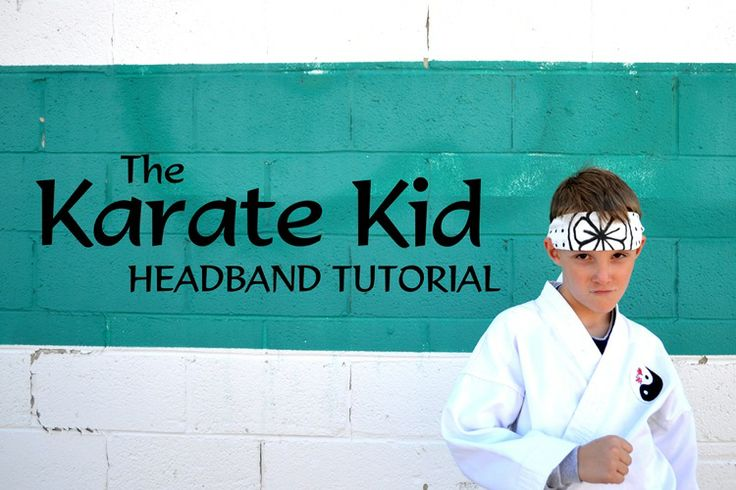 This is a real tutorial! So, if any of my martial art friends need a Karate Kid headband - here ya go! LOL