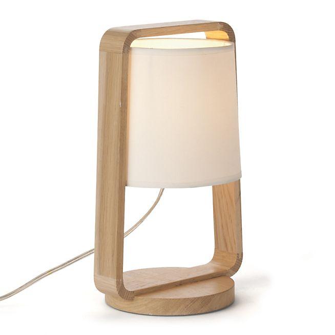 Legno Lampe à poser en chêne avec abat-jour H31cm