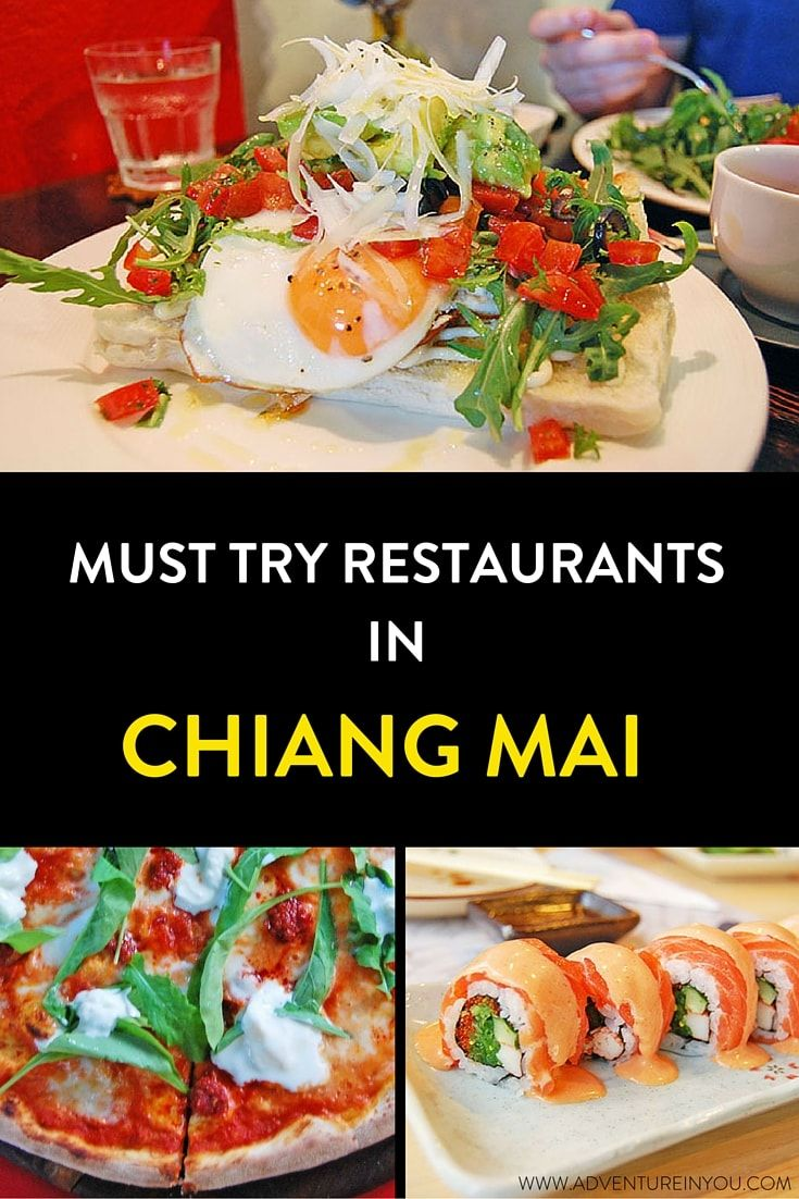 Heres a list of must try restaurants when in Chiang Mai Thailand. From delicious pizzas, to burgers, and fine dining meals, here are a load of options for every type of budget