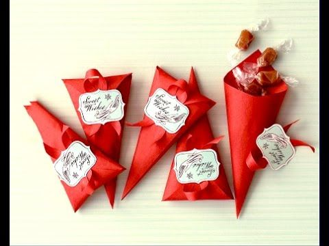Ideas for Valentine's day! Favor Cones. Easy to do. Gift wrap - YouTube