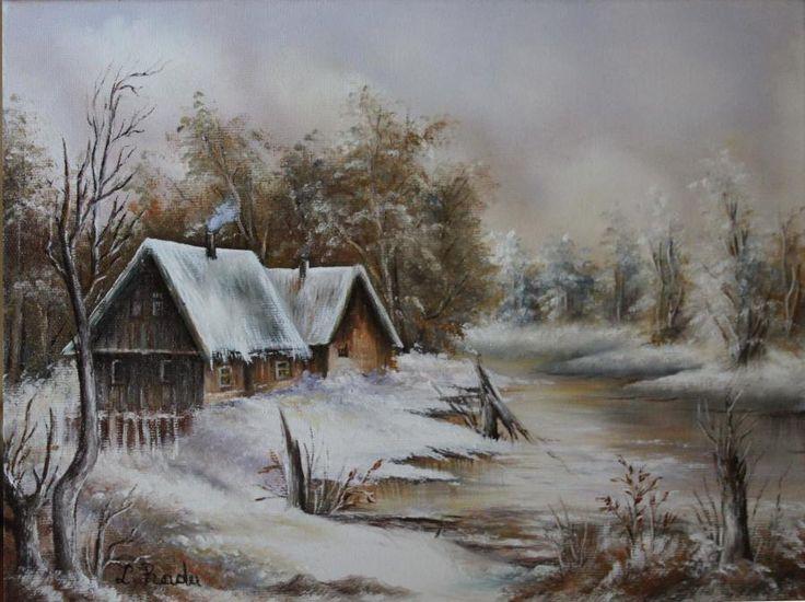 Liniste de Iarna. Tablou de Radu Liliana